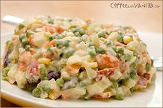 Recipe for traditional Polish vegetable salad with lots of root veggies and mayonnaise. Polish Salad Recipe, Polish Recipes, Polish Food, Vegetable Salad Recipes, Different Recipes, Soul Food, Cooking Recipes, Vegan Recipes, Food And Drink