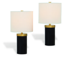 Lumine Tower Table Lamp, Onx (Set of 2)