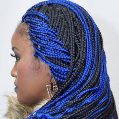 Braids With A Hint Of Bright Blue Ig Braidsbydesign Outre Xpression Haircolored