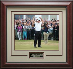 Phil Mickelson British Open Champion Photo Framed   Official, Photos, Golf Memorabilia