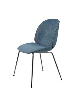 Beetle Dining Chair - Conic Base - Front Upholstered Shell by Gubi