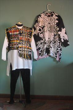 Woven Vest, Patchwork Shirt #WearableArt #viktorya #PIQF Fashion Show 2016