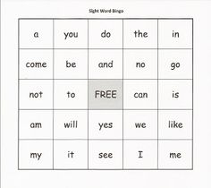 Sight Word Bingo with printable. Playing Bingo with sight words requires students to be able to instantly read words rather than sounding them out. Playing this game also requires students to see and hear the word repetitively. Doing this as a whole group activity or incorporating it into literacy centers would allow more practice for sight words.
