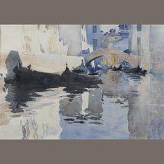 John Singer Sargent; View of Venice, watercolour, 24x35cm.