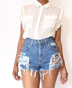 I need to make some high waist shorts that are destroyed like this!
