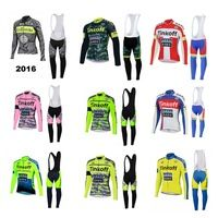 2016 saxo bank tinkoff long sleeve cycling jersey set equipacion ciclismo ropa kit autumn fluo color cycling clothing
