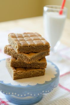 Peanut Butter Cookie Squares - thick, soft cookies with crispy edges and a secret ingredient that makes them out-of-this-world amazing.