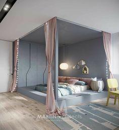 19 Creative Ways Dream Rooms for Teens Bedrooms Small Spaces - homemisuwur Teen Bedroom Designs, Bedroom Bed Design, Bedroom Furniture Design, Room Ideas Bedroom, Home Room Design, Home Decor Bedroom, Modern Bedroom, Bedroom Ideas For Girls, Kid Bedrooms
