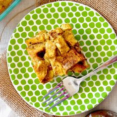 Pumpkin French Toast Bake-really good-cut recipe in half and added some brown sugar to the batter-should try syrup next time