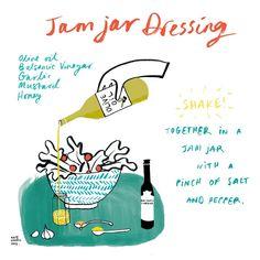 An illustration of Jam Jar Dressing recipe (scheduled via http://www.tailwindapp.com?utm_source=pinterest&utm_medium=twpin&utm_content=post113506401&utm_campaign=scheduler_attribution)