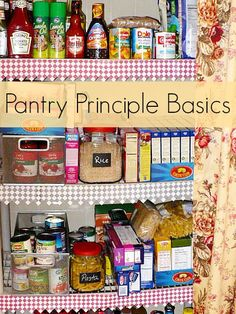 "Save money on your grocery budget  by learning the basic idea of the  ""pantry principle""....so that the sole purpose of grocery shopping becomes......"
