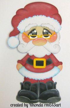 XMAS Santa paper piecing for premade scrapbook page by Rhonda rm613art