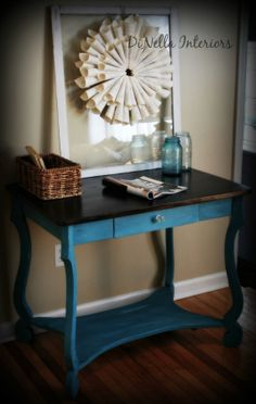 Vintage Writing Desk Painted by DiNellaInteriors on Etsy, $175.00