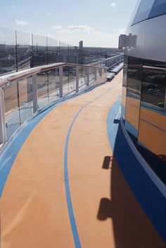 Work out while onboard. Anthem of the Seas features a running track so you don't have you to break your morning routine.