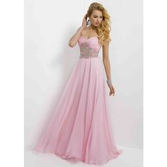 Crystal Pink Strapless Rhinestone Beaded Ruched Prom Dress 2015 via Polyvore featuring dresses, bridesmaid dresses, pink cocktail dress, beaded cocktail dress, pink bridesmaid dresses and homecoming dresses