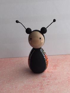 Butterfly wooden peg dolls