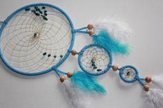 Blauer Traumfänger mit Apatit - Apatit im hellblauen Traumfänger - Fensterschmuck von TRAUMnetz.com     ** DReamcatcher u.v.m.  ** auf DaWanda.com