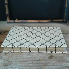 Graphic Coptic Journal  Moroccan tile print Book  Modern by hiBOOK
