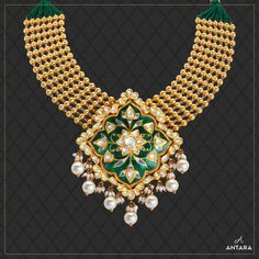 Gold Earrings Designs, Gold Jewellery Design, Necklace Designs, Gold Jewelry, India Jewelry, Jewelry Sets, Jewelry Drawing, Antique Necklace, Gold Necklaces