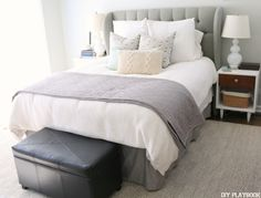 A New Rug for the Master Bedroom - DIY Playbook with Rugs USA's Sierra Paddle rug!