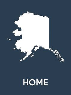 Alaska State Poster 18x24 by HeartlandPosters on Etsy, $25.00