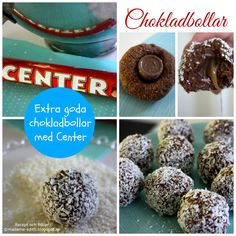 Madame Edith - Recept: Chokladbollar med center