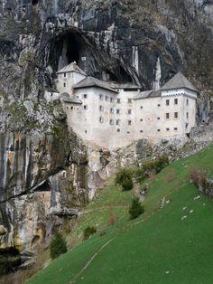 Predjamski Castle, Predjama Castle, a Renaissance castle built within a cave mouth, Slovenia