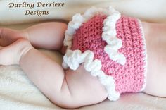 diaper cover crochet free pattern | This is a pattern for the Ruffle Diaper Cover. It is really easy to ...