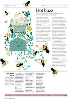 Illustration by Debbie Powell. Highlife magazine