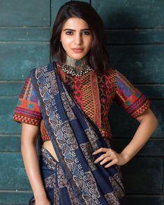 Samantha wiki, Husband, Movies and Biography - Bollywood Sardar Anarkali, Churidar, Lehenga, Saree Blouse Patterns, Saree Blouse Designs, Sari Blouse, Indian Attire, Indian Wear, Indian Dresses