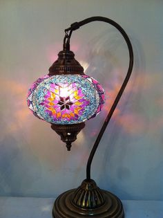 Turkish Moroccan Handmade Mosaic Table Lamp Pendant lantern Lighting lamp…