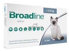 Broadline 0,3 ml, gatos pequeños (<2,5 Kg) - 1 pipeta
