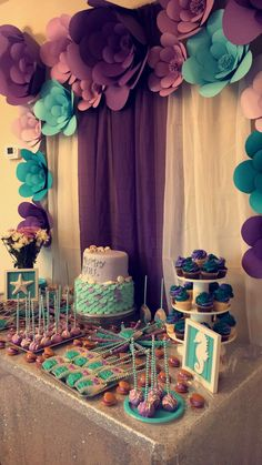 Looking for Baby Shower Themes? Tons of free checklists, baby shower planning tips and celebration inspiration. Start Party Planning like a pro! Mermaid Theme Birthday, Baby Girl 1st Birthday, Little Mermaid Birthday, Little Mermaid Parties, Whale Birthday, Turtle Birthday, Turtle Party, Carnival Birthday, Birthday Party Decorations