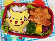 Pikachu bento -- I would make him out of cheese and red bell pepper.