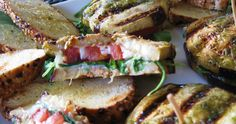 Grilled Eggplant, Goat Cheese and Tomato Sandwich
