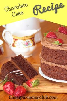 This fool-proof chocolate cake recipe is truly the best. With a step by step guide to help you though, and a perfect chocolate buttercream icing recipe! Chocolate Buttercream Icing, Chocolate Cake, Baking Recipes, Cake Recipes, Icing Recipe, Super Mom, The Fool, Yummy Food, Club