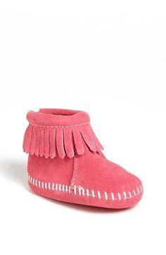 Minnetonka Pink Bootie (Baby & Walker) | Nordstrom