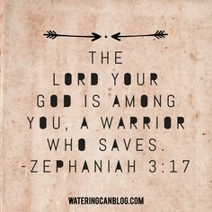 A Warrior Who Saves Zephaniah 3.17