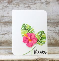 Thanks Card by Laurie Willison for Papertrey Ink (July 2016)
