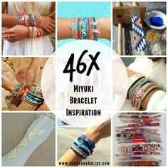 46X Miyuki Woven Bracelets Toho Beads Beadloom Inspiration from http://blog.beadsandbasics.com/inspiratie-armbandjes-weven/