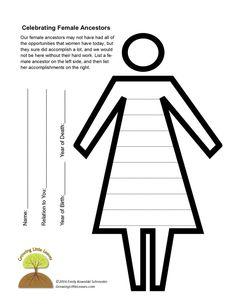 celebrating female ancestors free printable from growinglittleleavescom