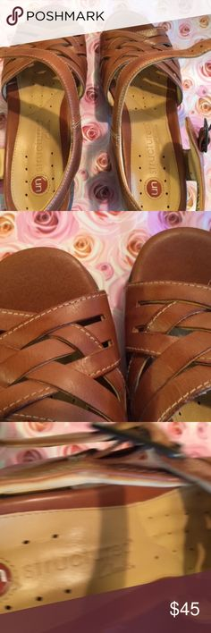 Clarks Unstructured Sandals Brown Size 6.5W NWOB NEW WITHOUT BOX CLARKS UNSTRUCTURED SANDALS PURCHASED FROM QVC SIZE 6.5W. Clarks Shoes Sandals
