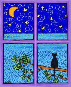 Moon Window Cat - Shelagh Duffett