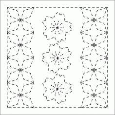 Pre-Stencilled Sampler. Geometric and floral.  www.indigoniche.com