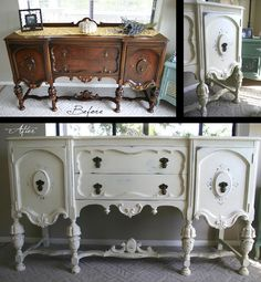 My latest Annie Sloan chalk paint project. Also for the same look use Reclaim paint by Caromal Colours Annie Sloan Chalk Paint Projects, Chalk Paint Furniture, Furniture Projects, Diy Furniture, Furniture Making, Paint Decor, Brown Furniture, Refurbished Furniture, Shabby Chic Furniture