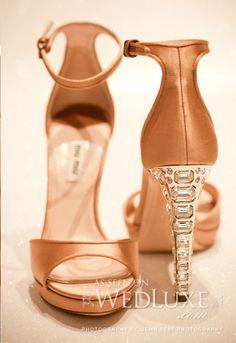 Fabulous Miu Miu #wedding #shoes