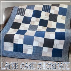Learn how to make this masculine flannel quilt with our video tutorial!