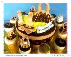 Louis Vuitton Handbag Cupcakes cakepins.com