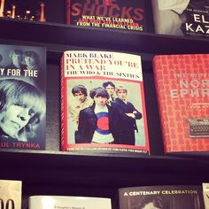 PRETEND YOU'RE IN A WAR by Mark Blake. Out 18 September. Snapped here in Lutyens & Rubinstein bookshop, London.