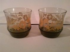 Vintage 1960's Set of 2 Brown & Mustard by LMTDInteriorConsults, $9.47